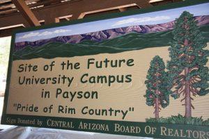 Payson University Sign